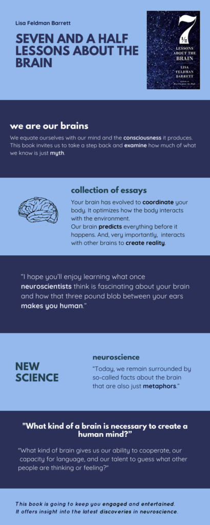 Seven and a Half Lessons About the Brain infographic.