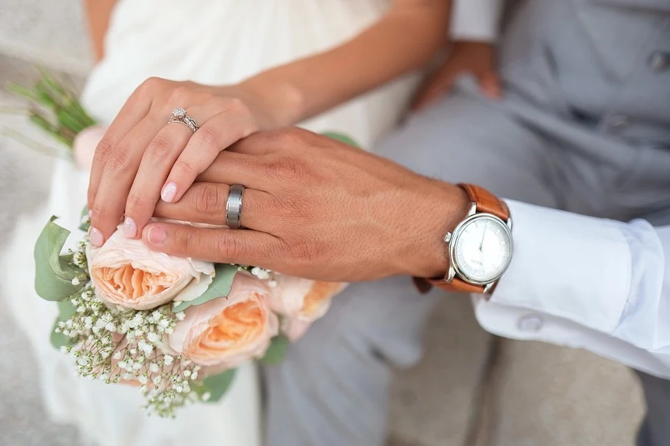 Unexpected history of hand gesture: two hands joined in marriage.